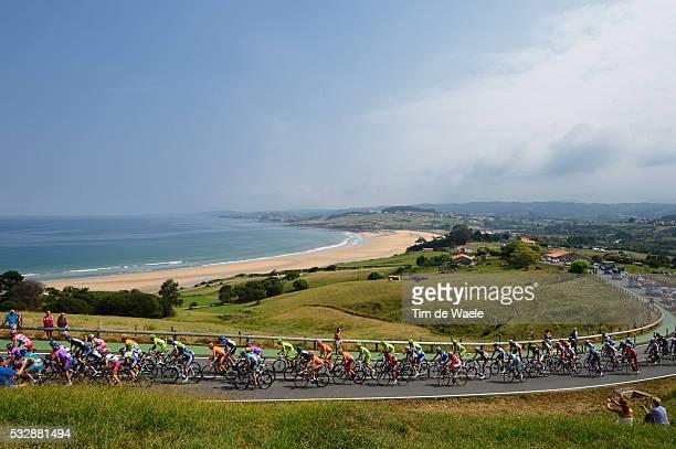 67th Tour of Spain 2012 / Stage 17 Illustration Illustratie / Peleton Peloton / COMILLAS LA RABIA Beach Plage Strand Sea Mer Zee / Landscape Paysage...