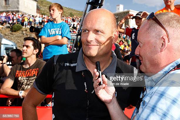 67th Tour of Spain 2012 / Stage 20 Arrival / Bjarne RIIS Team Owner Sportsdirector / Oleg TINKOFF Sponsor / Team Saxo Bank Tinkoff / La Faisanera...