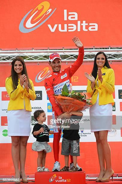 67th Tour of Spain 2012 / Stage 8 Podium / Joaquim Rodriguez Oliver Red Leader Jersey Pablo Elsa / Celebration Joie Vreugde / Lleida Andorra Collada...