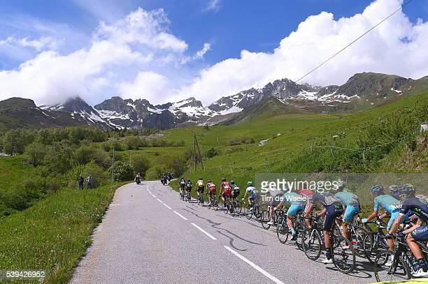 68th Criterium du Dauphine 2016 / Stage 6 Illustration / Peloton / Col de la Madeleine 1992m Mountains / Landscape / La Rochette Meribel 1454m /