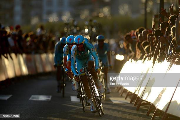 68th Tour of Spain 2013 / Stage 1 Astana Pro Team / NIBALI Vincenzo / Illustration Illustratie / Silhouet / Vilanova De Arousa Sanxenxo / Team Time...