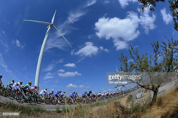 68th Tour of Spain 2013 / Stage 12 Illustration Illustratie / Peleton Peloton / Wind Mill Moulin Molen / Olive Tree Arbre Olijfboom / Landscape...