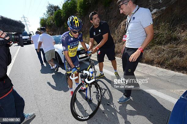 68th Tour of Spain 2013 / Stage 13 Illustration Illustratie / ZAUGG Oliver / Crash Chute Val / GUIDI Fabrizio Sportsdirector Team Saxo Tinkoff Bank /...