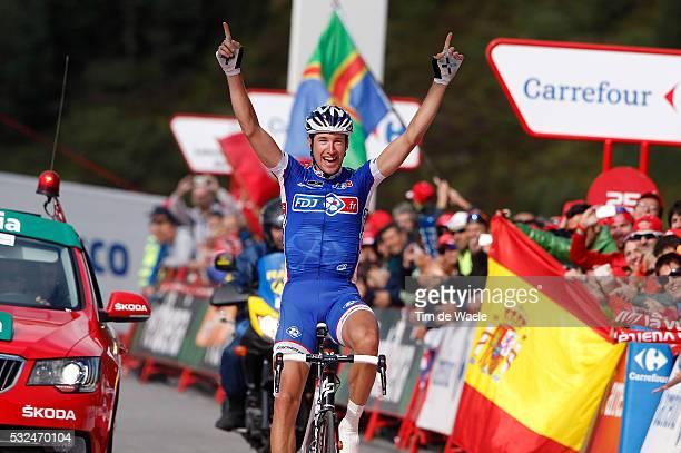 68th Tour of Spain 2013 / Stage 15 Arrival / GENIEZ Alexandre / Celebration Joie Vreugde / Andorra - Peyragudes 1620m / Vuelta Ronde van Spanje / Rit...