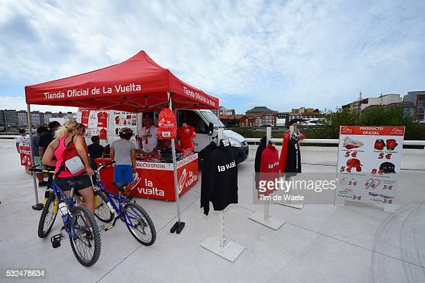 68th Tour of Spain 2013 / Stage 20 Illustration Illustratie / Merchandising Shop Fans Supporters / Aviles - Alto De Angliru 1557m / Vuelta Ronde van...