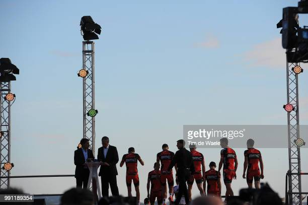 68Th Tour Of Spain 2013 Team Presentation Bmc Racing Team / Illustration Illustratie Silhouet Presentation Equipes Ploegenpresentatie Vuelta Ronde...