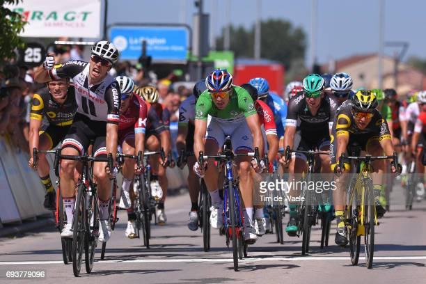 69th Criterium du Dauphine 2017 / Stage 5 Arrival / Phil BAUHAUS Celebration / Arnaud DEMARE Green Points Jersey / Bryan COQUARD / La TourdeSalvagny...