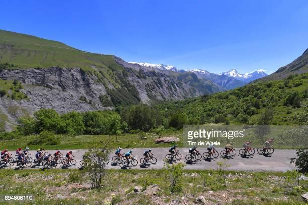69th Criterium du Dauphine 2017 / Stage 7 Landscape / Richie PORTE Yellow Leader Jersey / Team BMC Racing Team / Peloton / Mountains / Aoste Alpe...
