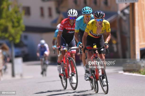 69th Criterium du Dauphine 2017 / Stage 7 Richie PORTE Yellow Leader Jersey / Jakob FUGLSANG / Alberto CONTADOR / Aoste Alpe d'Huez 1850m /