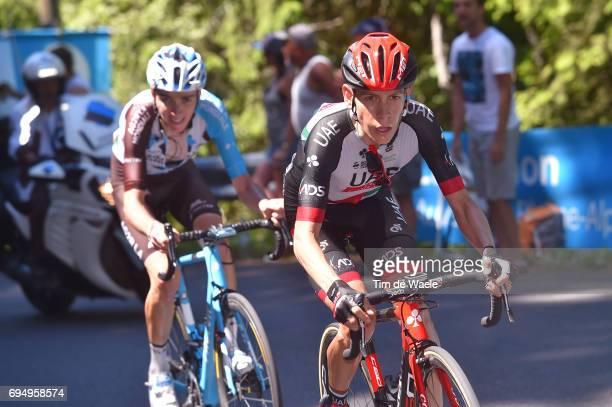 69th Criterium du Dauphine 2017 / Stage 8 Louis MEINTJES / Romain BARDET / Albertville Plateau de Solaison 1508m /