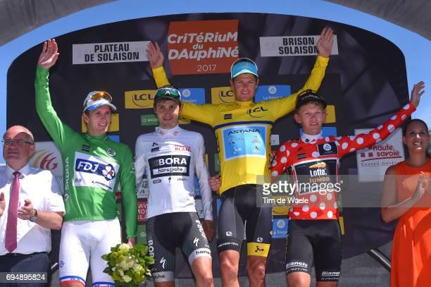 69th Criterium du Dauphine 2017 / Stage 8 Podium / Arnaud DEMARE Green Sprint Jersey / Emanuel BUCHMANN White Best Young Rider Jersey / Jakob...