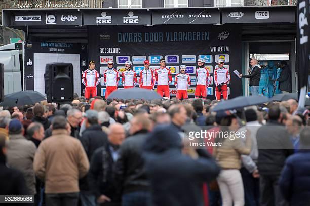 69th Dwars door Vlaanderen 2014 Podium / Alexander Kristoff / Alexey Tsatevich / Gatis Smukulis / Rudiger Selig / Aliaksandr Kuchynski / Vyacheslav...