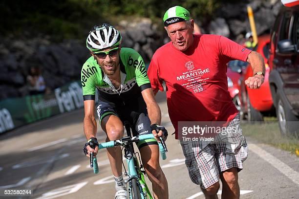69th Tour of Spain 2014 / Stage 16 TEN DAM Laurens Fans Supporters / San Martin Del Rey Aurelio La Farrapona Lagos De Somiedo 1705m / Vuelta Tour...