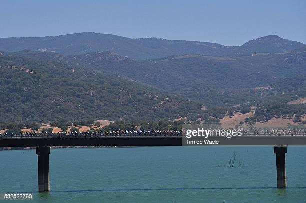 69th Tour of Spain 2014 / Stage 3 Illustration Illustratie / Peleton Peloton / Bridge Pont Brug Lake Lac Meer / Landscape Paysage Landschap / Cadiz -...