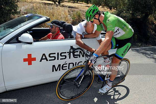 69th Tour of Spain 2014 / Stage 7 DEGENKOLB John Injury Blessure Gewond Crash Chute Val / Dokter Doctor Medic / Alhendin Alcaudete / Vuelta Tour...