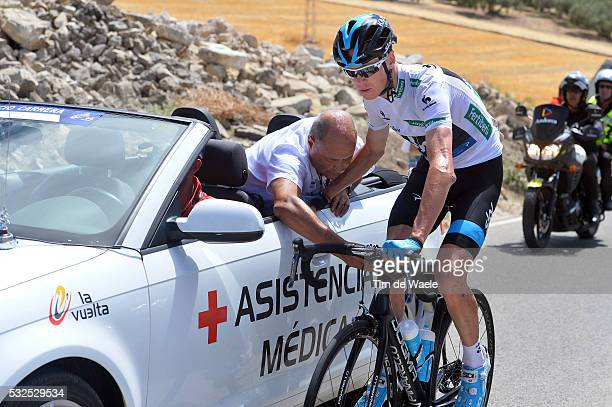 69th Tour of Spain 2014 / Stage 7 FROOME Christopher White Jersey Injury Blessure Gewond / Crash Chute Val / Alhendin Alcaudete / Vuelta Tour...