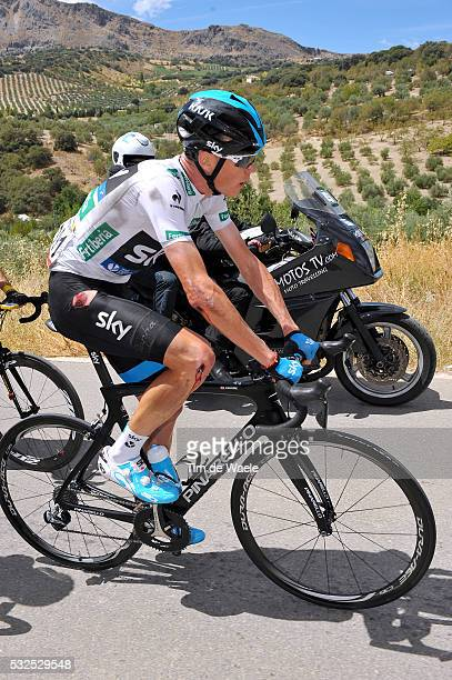 69th Tour of Spain 2014 / Stage 7 FROOME Christopher White Jersey Injury Blessure Gewond Crash Chute Val / Alhendin Alcaudete / Vuelta Tour d'Espagne...