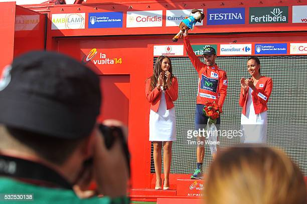 69th Tour of Spain 2014 / Stage 7 Podium / VALVERDE Alejandro Red Leader Jersey / Celebration Joie Vreugde / Alhendin Alcaudete / Vuelta Tour...