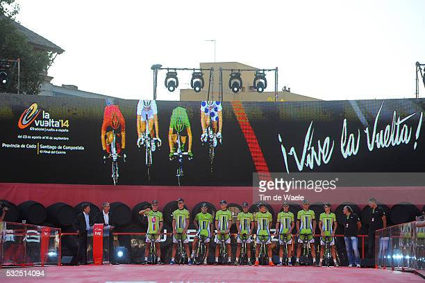 69th Tour of Spain 2014 / Team Presentation Team Cannondale / SAGAN Peter / BENNETT George / BODNAR Maciej / BOIVIN Guillaume / CARUSO Damiano / DE...