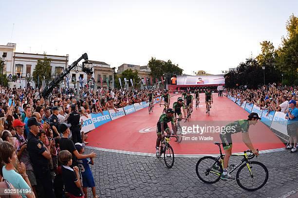 69th Tour of Spain 2014 / Team Presentation Team Europcar / Illustration Illustratie / SICARD Romain / Public Publiek Spectators / Fans Supporters /...