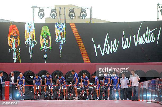 69th Tour of Spain 2014 / Team Presentation Team FDJ / BOUHANNI Nacer / ELISSONDE Kenny / FISCHER Murilo Antonio / LE BON Johan / MANGEL Laurent /...