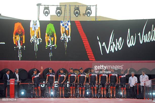 69th Tour of Spain 2014 / Team Presentation Team IAM Cycling / AREGGER Marcel / FUMEAUX Jonathan / HINAULT Sebastien / KLEMME Dominic / LANG Pirmin /...