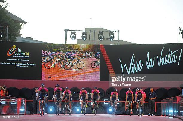 69th Tour of Spain 2014 / Team Presentation Team Lampre Merida / CONTI Valerio / ANACONA Winner / CUNEGO Damiano / FAVILLI Elia / FERRARI Roberto /...