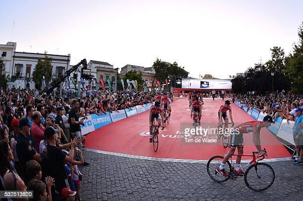 69th Tour of Spain 2014 / Team Presentation Team Lotto Belisol / Illustration Illustratie / VAN DEN BROECK Jurgen / Public Publiek Spectators / Fans...