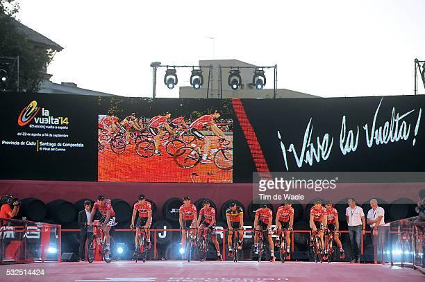 69th Tour of Spain 2014 / Team Presentation Team Lotto Belisol / VAN DEN BROECK Jurgen / ARMEE Sander / BREEN Vegard / DE CLERCQ Bart / DEBUSSCHERE...