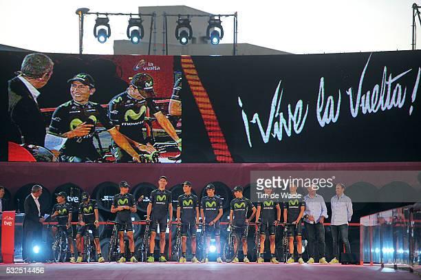 69th Tour of Spain 2014 / Team Presentation Team Movistar / VALVERDE Alejandro / AMADOR Andrey / CASTROVIEJO Jonathan / ERVITI Imanol / HERRADA Jose...