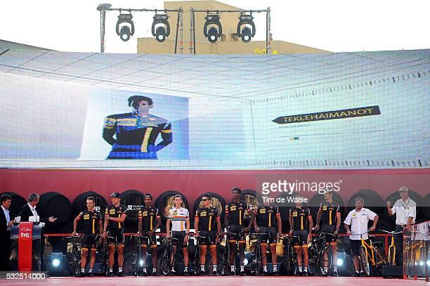 69th Tour of Spain 2014 / Team Presentation Team MTN Qhubeka / PARDILLA Sergio / CIOLEK Gerald / KUDUS Merhawi / MEINTJES Louis / SBARAGLI Kristian /...