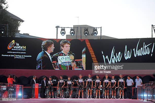 69th Tour of Spain 2014 / Team Presentation Team Omega Pharma QuickStep OPQS / URAN Rigoberto / BOONEN Tom / BRAMBILLA Gianluca / MAES Nikolas /...