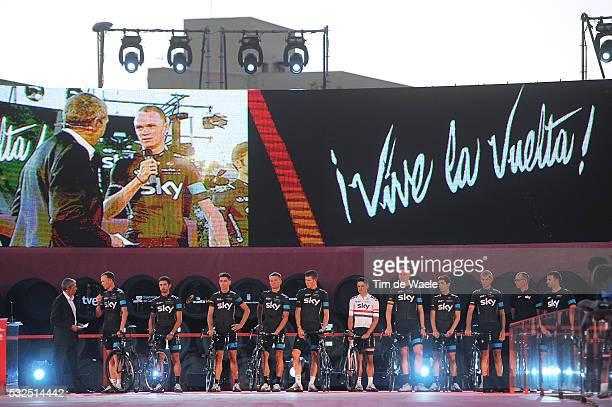 69th Tour of Spain 2014 / Team Presentation Team Sky / FROOME Christopher / CATALDO Dario / DEIGNAN Philip / KENNAUGH Peter / KIRYIENKA Vasil / KNEES...