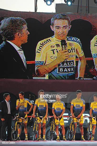 69th Tour of Spain 2014 / Team Presentation Team Tinkoff Saxo / CONTADOR Alberto / VALGREN Michael / BENNATI Daniele / HERNANDEZ Jesus / PAULINHO...