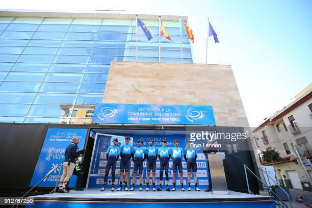 69th Volta a la Comunitat Valenciana 2018 / Stage 1 Start / Podium / Alejandro VALVERDE / Jasha SUTTERLIN / Jorge ARCAS / Nuno BICO / Hector...