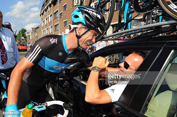 6th Eneco Tour / Stage 4 Arrival / Gregory HENDERSON / Steven DE JONGH Sportsdirector Team Sky / Celebration Joie Vreugde / SintLievensHoutem...