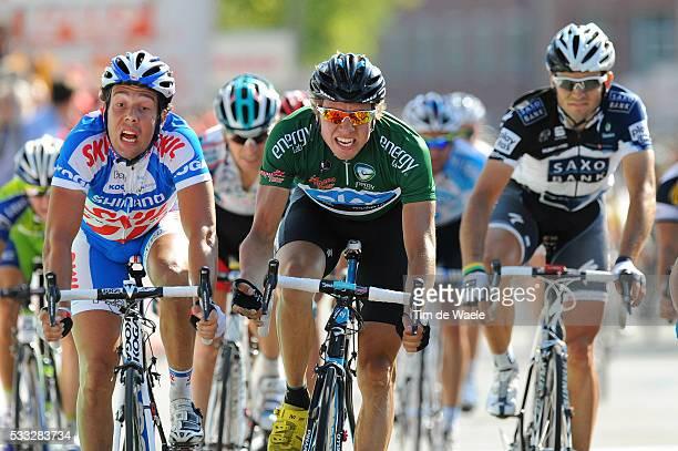 6th Eneco Tour / Stage 4 Arrival / Kenny VAN HUMMEL / Edvald BOASSON HAGEN Green Jersey / SintLievensHoutem Roermond / Stage Rit / Tim De Waele |...