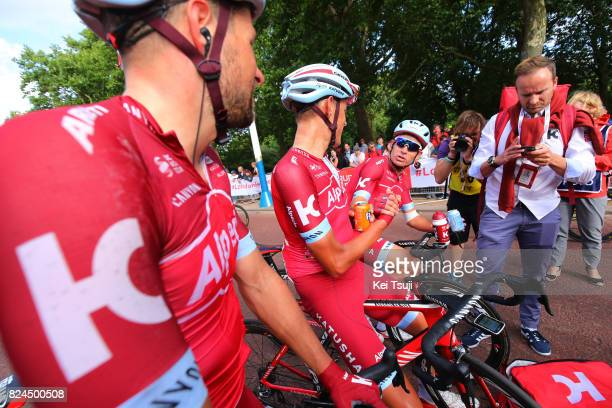 6th Prudential RideLondonSurrey Classic 2017 / Men Arrival / Marco HALLER / Nils POLITT / Alexander KRISTOFF / Celebration / London London /...