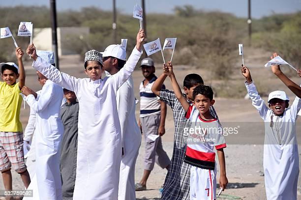 6th Tour of Oman 2015 / Stage 3 Illustration Illustratie / Oman Children Enfant Kinderen Public Publiek Spectators Fans Supporters / Al Mussanah...