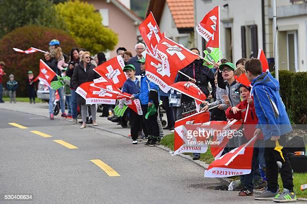 70th Tour de Romandie 2016 / Stage 1 Illustration Illustratie / Public Publiek Spectators / Fans Supporters / Swiss Flag Drapeau Vlag / La...