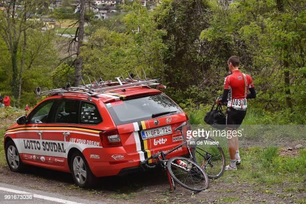 70Th Tour De Romandie 2016 Stage 4Illustration Illustratie Team Lotto Soudal / Car Voiture Auto De Clercq Bart / Abandon Opgave/ Conthey...
