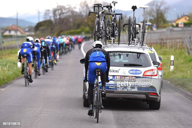 70Th Tour De Romandie 2016 Stage 5Illustration Illustratie Team Etixx QuickStep / Car Voiture Auto Ollon Geneve /Etape Rit Tdr Tim De Waele