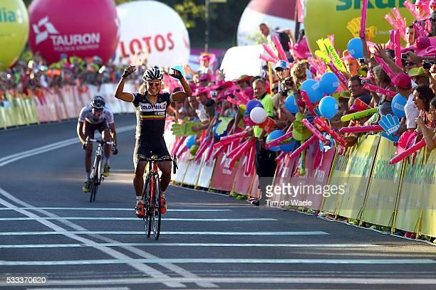 70th Tour of Poland/ Stage 6 Arrival / Darwin ATAPUMA Celebration Joie Vreugde / Christophe RIBLON Bukovina Terma Hotel Spa - Bukowina Tatrzanska...
