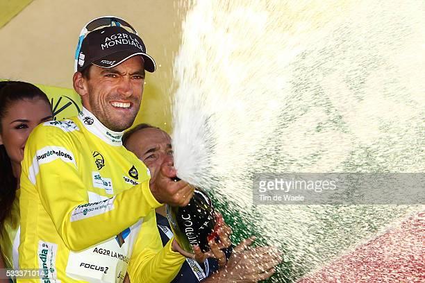 70th Tour of Poland/ Stage 6 Podium/ Christophe RIBLON / Yellow Leader Jersey/ Celebration Joie Vreugde / Bukovina Terma Hotel Spa - Bukowina...