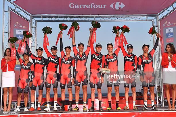 70th Tour of Spain 2015 / Stage 1 Podium/ Team BMC RACING / SANCHEZ GONZALEZ Samuel / ATAPUMA HURTADO Darwin / BURGHARDT Marcus / DE MARCHI...