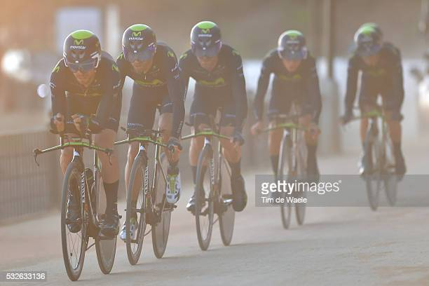 70th Tour of Spain 2015 / Stage 1 Team MOVISTAR / VALVERDE BELMONTE Alejandro / AMADOR BAKKAZAKOVA Andrey / ERVITI OLLO Imanol / MORENO BAZAN Javier...