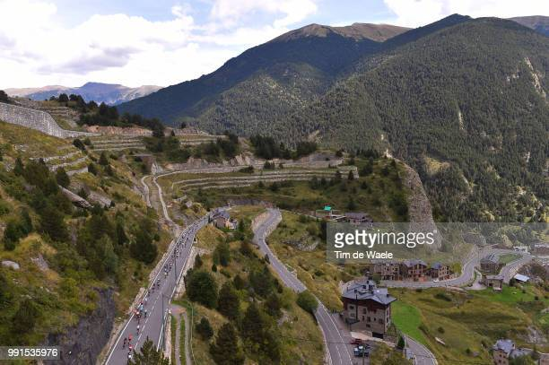 70Th Tour Of Spain 2015, Stage 11 Illustration Illustratie, Peleton Peloton, Coll D'Ordino Mountains Montagnes Bergen, Landscape Paysage Landschap,...