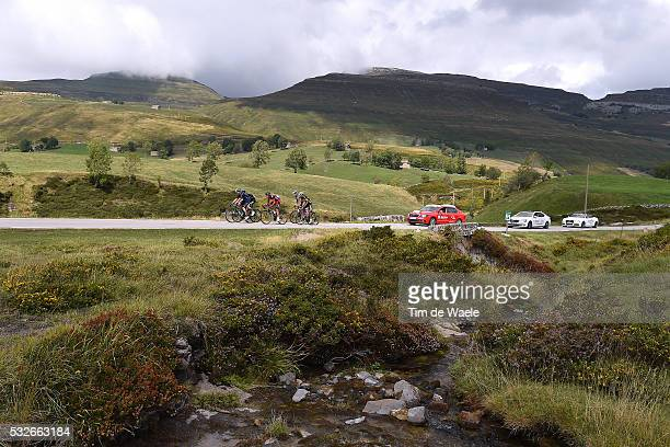 70th Tour of Spain 2015 / Stage 14 Illustration Illustratie/ Landscape Paysage/ Mountains Montagnes Bergen/ ROJAS Jose Joaquin / DE MARCHI Alessandro...