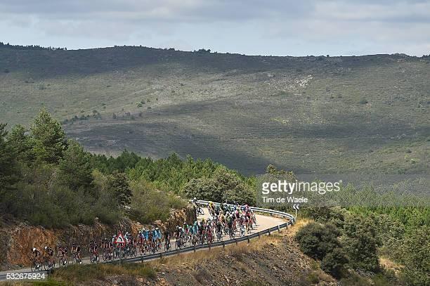 70th Tour of Spain 2015 / Stage 18 Illustration Illustratie / Peleton Peloton/ Landscape Paysage Landschap / Mountains Montagnes Bergen / Roa-Riaza /...