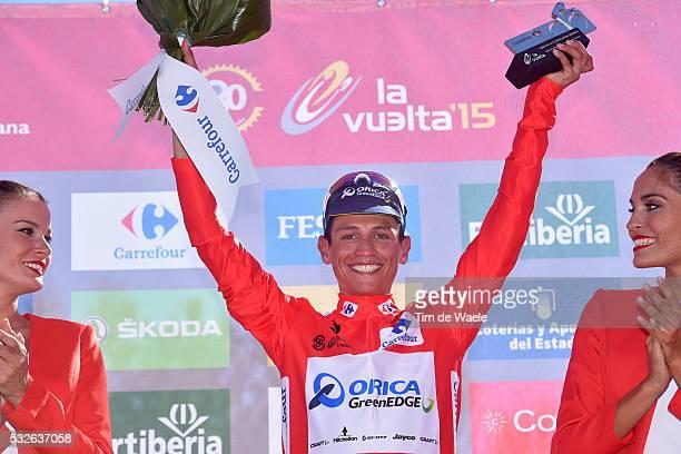 70th Tour of Spain 2015 / Stage 2 Podium / CHAVES Johan Esteban Red Leader Jersey / Celebration Joie Vreugde / Alhaurin De La Torre Caminito Del Rey...